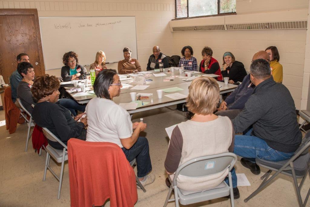 Training table facilitators at St. Peter's AME Church